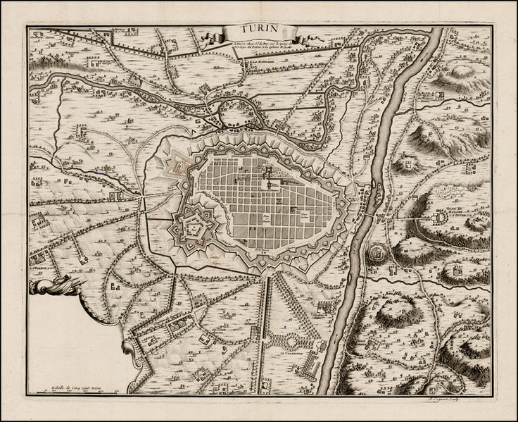 Map of Turin  Map Maker: Nicolas De Fer  Place / Date: Paris / 1706
