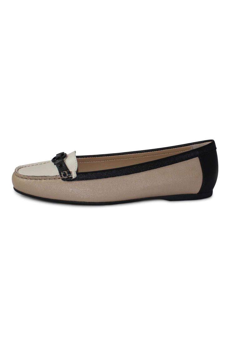 Michael Kors Bisque Loafer. Flat heel height.   Beige Flat Loafer by Michael Kors. Shoes - Flats - Loafers & Oxfords Canada