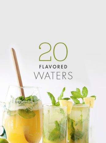 Stay hydrated with these flavored water recipes.