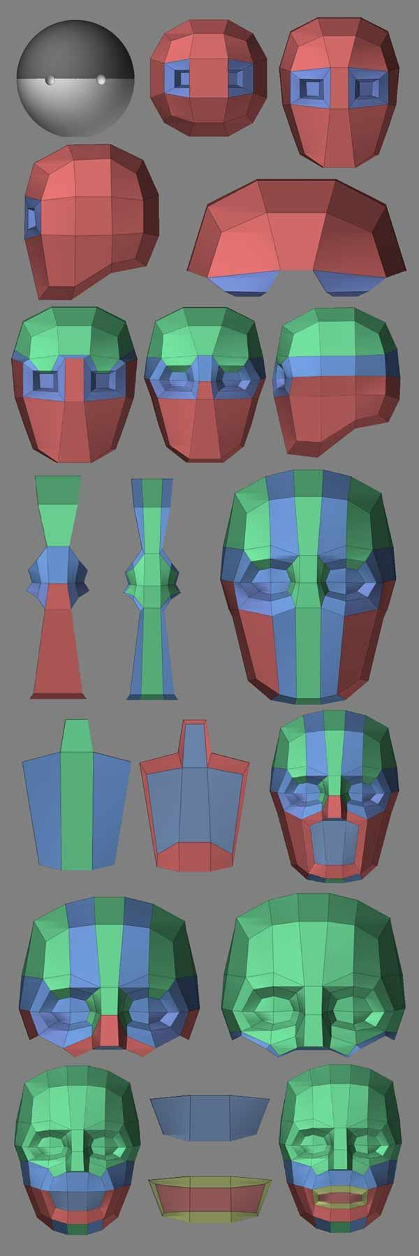 Handlebar Modeling Workflow in ZBrushCentral (www.zbrushcentral.com/showthread.php?43333-Topology-experiment)