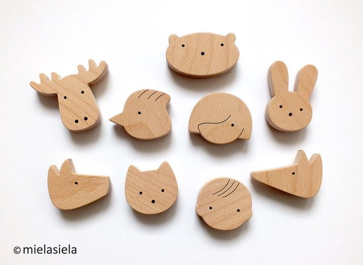 Fridge magnets - ANY 4 wooden magnets - Kids fridge magnets by mielasiela on Etsy https://www.etsy.com/listing/182851647/fridge-magnets-any-4-wooden-magnets-kids