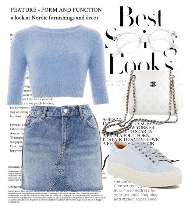 """""""Outfit #25"""" by trishsa on Polyvore featuring H&M, Collectif, Topshop, Marc Fisher LTD and Chanel"""