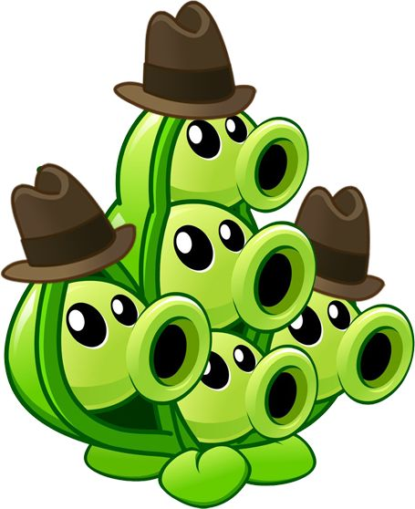 Plants vs Zombies 2 Pea Pod(Halloween) (R) by illustation16 on DeviantArt