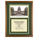 California State University Sacramento Diploma Frame with Sac State Art PrintBy Old School Diploma Frame Co.