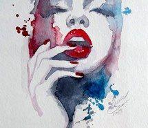 Вдохновляющая картинка искусство, красиво, нарисованное, рисунок, губы, модель, современные, ногти, живопись, бледные, портрет, красный, акварель, 2681373 - Размер 986x1280px - Найдите картинки на Ваш вкус