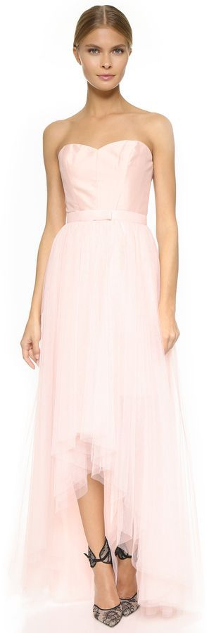 Monique Lhuillier Bridesmaids Strapless Dress with Removable Skirt