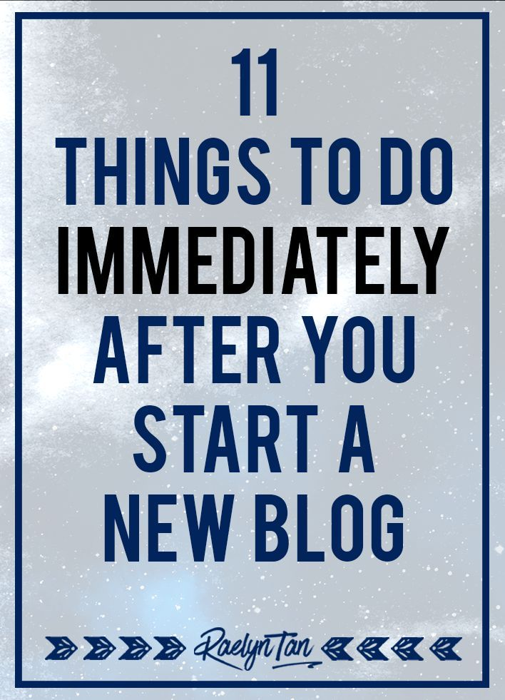 Starting a new blog? Here are 11 practical things to do immediately that'll set…