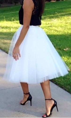 Cari White Tulle Skirt love it:)