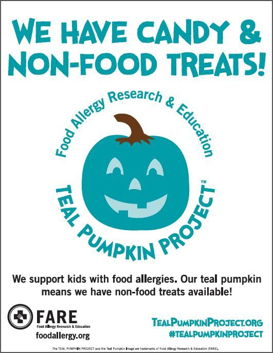 Have other options for kids with dangerous food allergies! #tealpumpkinproject