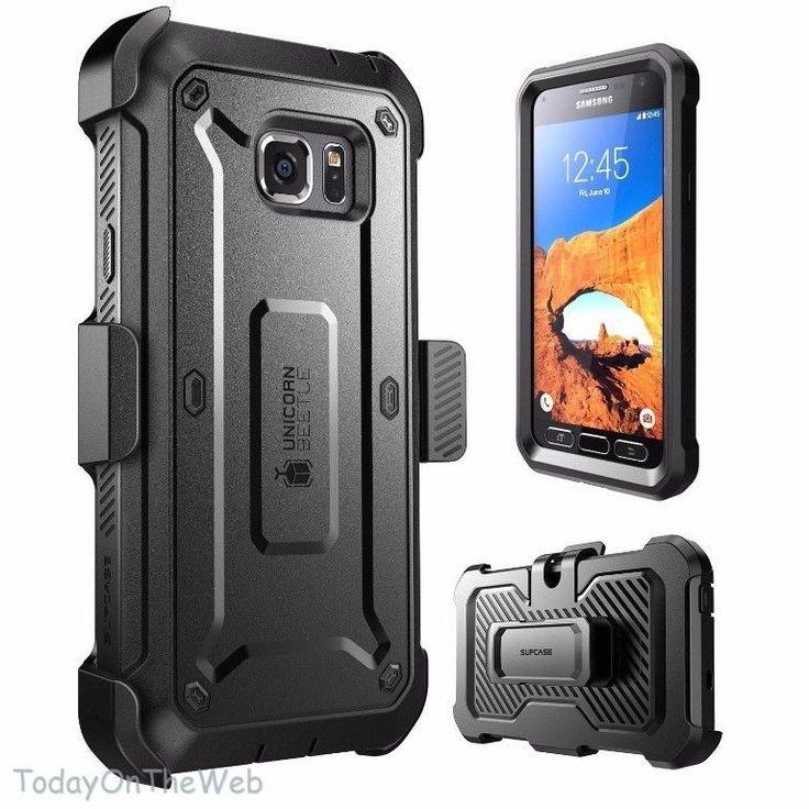 Samsung Galaxy S7 Active SUPCASE Unicorn Beetle PRO Rugged Holster Black Case #SUPCASE
