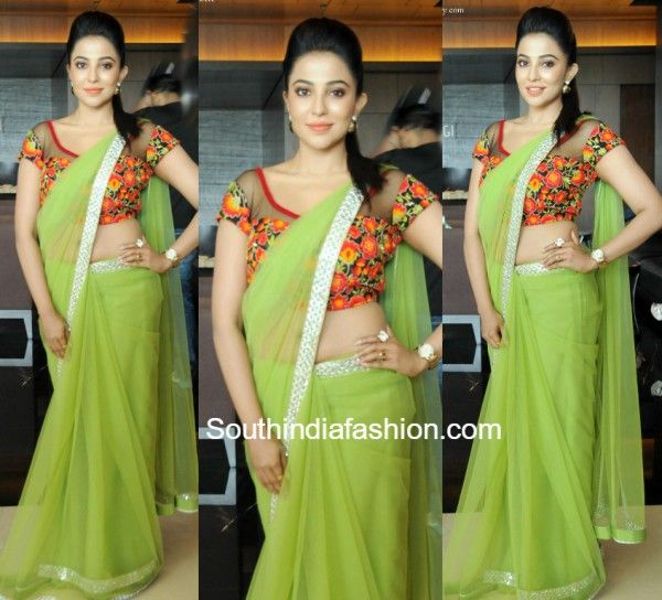 Parvathy Nair in a Green saree photo