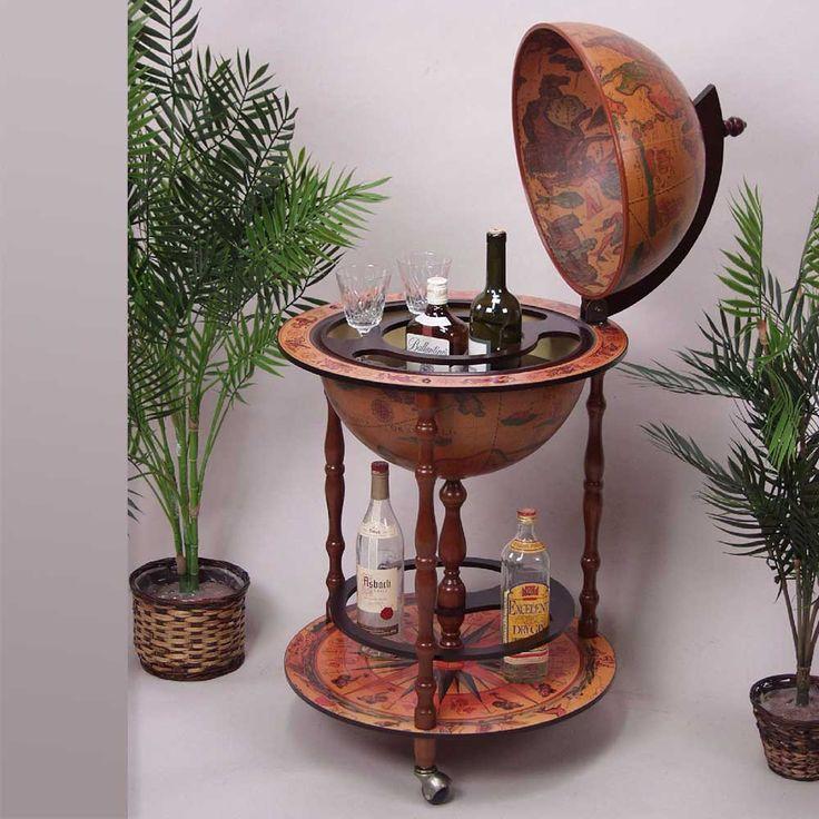 Diese Globusbar in Braun antik mit Flaschenhalter fällt direkt ins Auge ist außergewöhnlich und ein ein echter Hingucker. Eine besondere Möglichkeit einfach Flaschen und Gläser zu verstauen und durch Rollen mobil überall hinzuschieben. Jetzt ansehen auf Pharao24.de  http://www.pharao24.de/globusbar-vainy-in-braun-antik-mit-flaschenhalter.html#pint