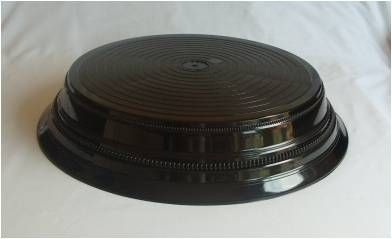 12 inch black round cake stand.  Over 25 different cake stands available to hire / rent.  The Cake Lab Bakery, Ranelagh, Dublin, Ireland. Artisan Baking Studio.