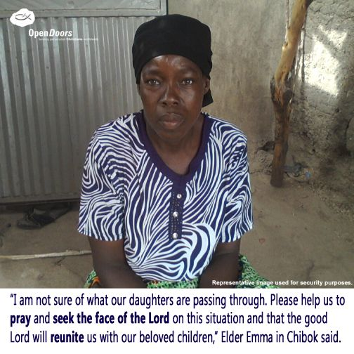 Pray for the parents of the missing Chibok girls.