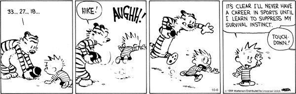 Calvin and Hobbes Comic Strip, October 06, 2014 on GoComics.com