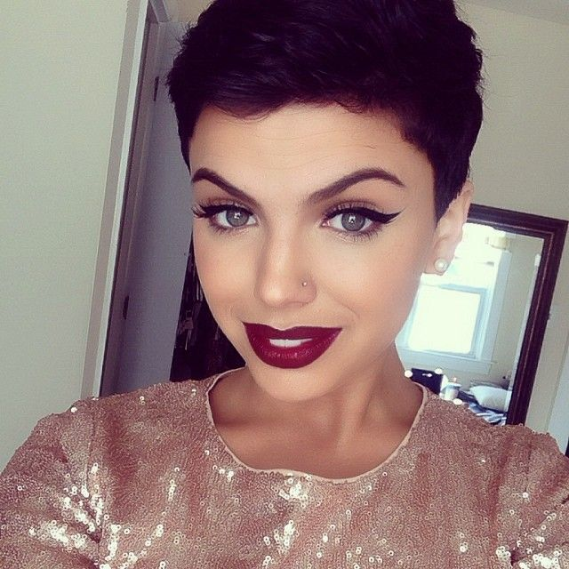 Pixie cut....if only I was this GORGEOUS!!!! Love love love!!!! Lips