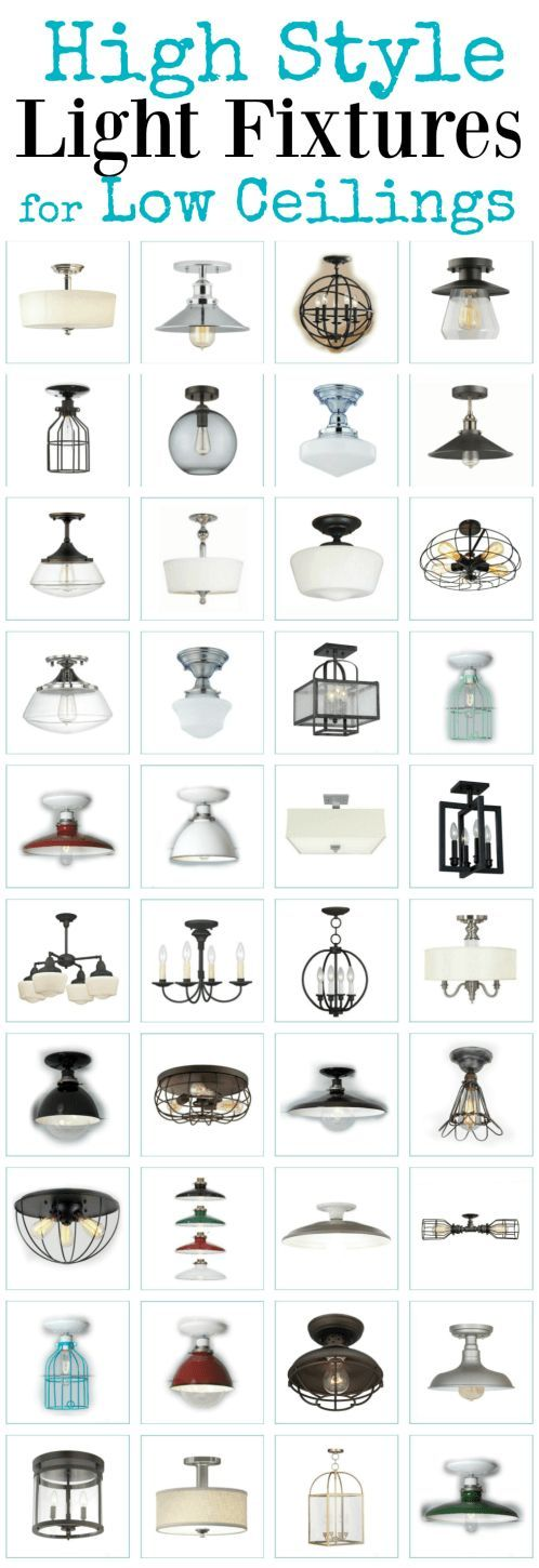 Nice selection of flush and semi flush ceiling lights for short ceilings and even shorter budgets via Crystal @ The Weathered Fox.