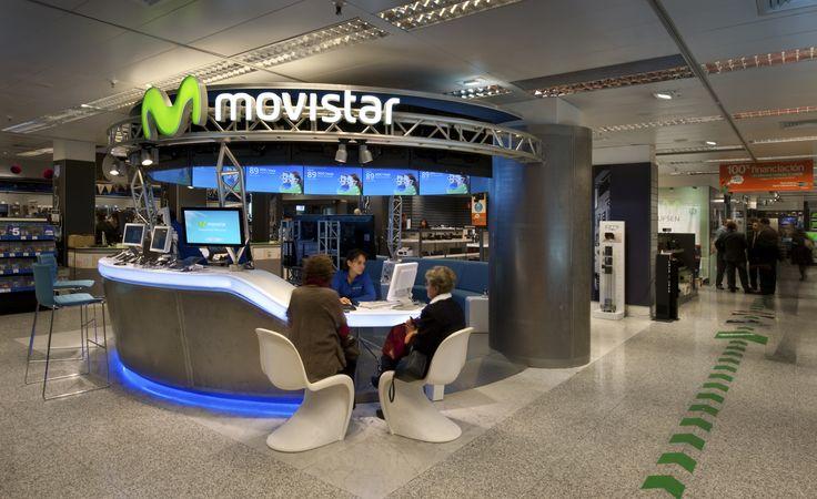 Espacio Movistar Fusión instalado en el Corte Inglés del Paseo de la Castellana. Madrid