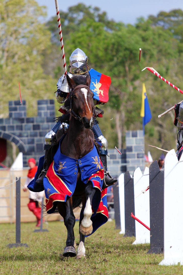 Jousting action at the Medieval Festival. Photo by Peta Gittins #jousting #medieval #festival #knight #horse #DoSomethingPhoto