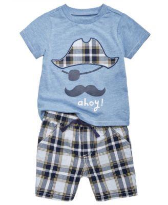 2 peças conjunto camisa & bermuda happy child carters