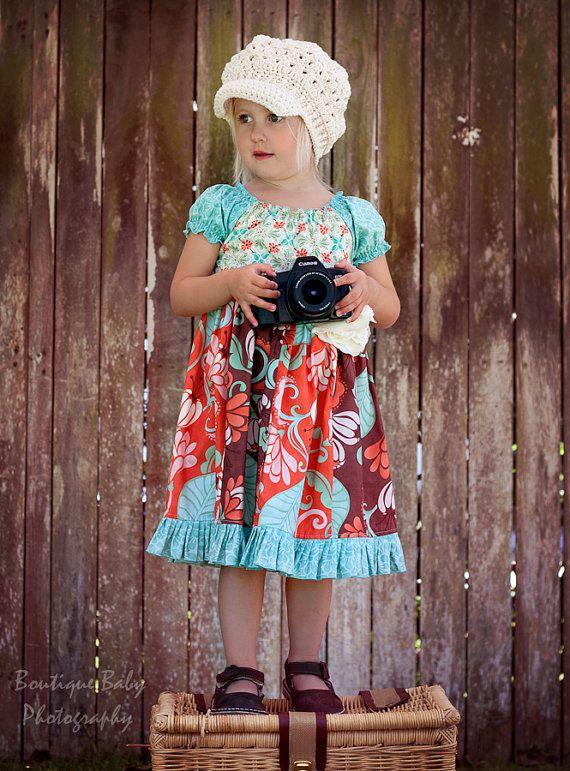 Lis Boutique Peasant Dress  Pattern  by  Juvie Moon Designs PDF Download. $14.00, via Etsy.