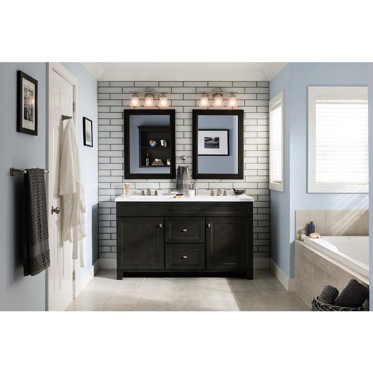 Shop diamond goslin storm transitional bathroom vanity - Lowes bathroom vanities without tops ...