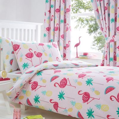 bluezoo Flamingos duvet set- | Debenhams