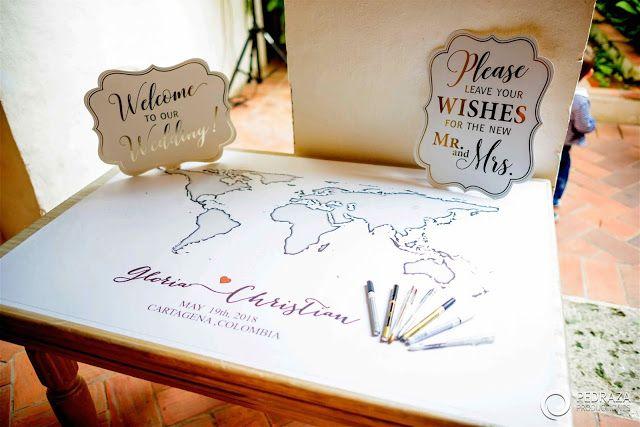Map To Sign By Guests Cartagena Wedding I Ve Got You Under My Skin Mi Boda En Cartagena The Blog Mi Boda Boda Blog