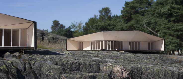 Atelier House variations. (1:20 laser cut wood models)