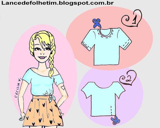 30 Sugestões e 5 idéias para Customizar Camisetas   SOS Solteiros