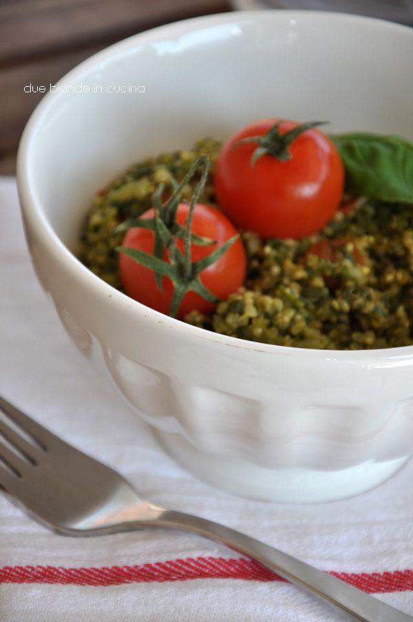 """Due bionde in cucina: """"Risotto"""" di quinoa con spinaci, pomodori e formag..."""
