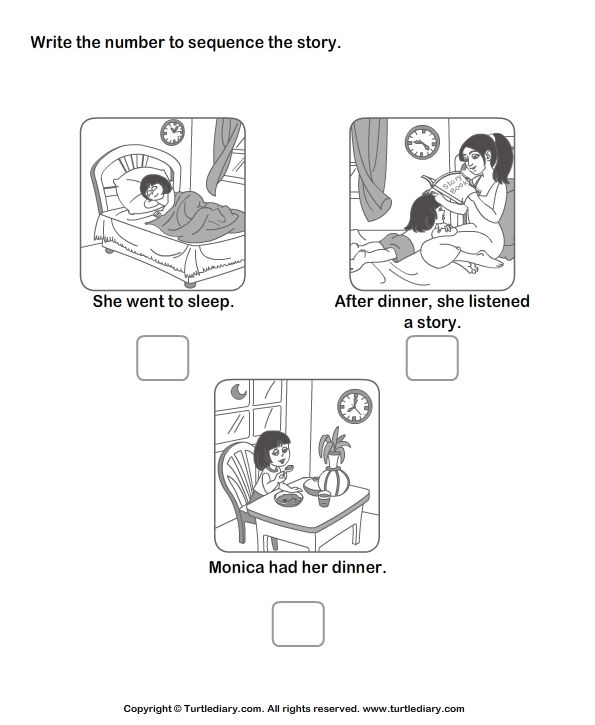 Story sequencing worksheets- TurtleDiary.com