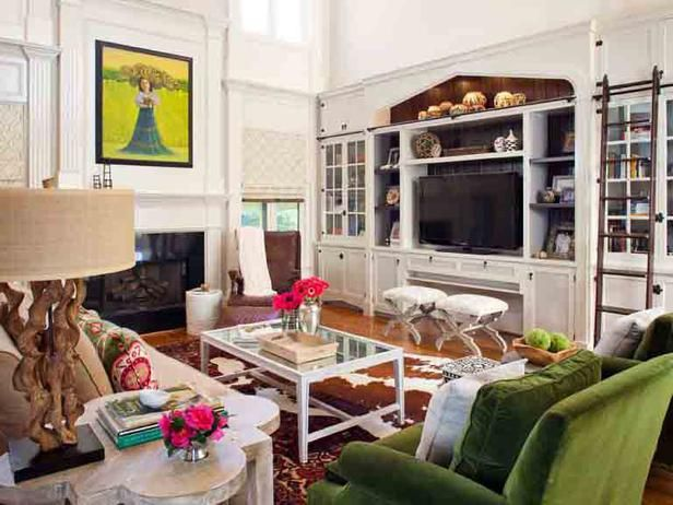 Light Bright Eclectic Living Room