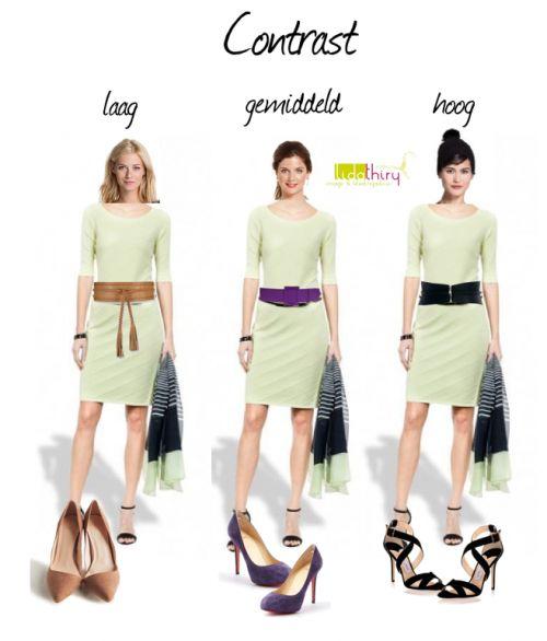 Het contrast in je kleding is minstens zo belangrijk als de juiste 'temperatuur' van je kleuren | www.lidathiry.nl |