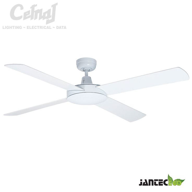 Contemporary Eco Fan Ceiling White