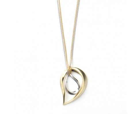 Double Teardrop Necklace (Gold/Silver)