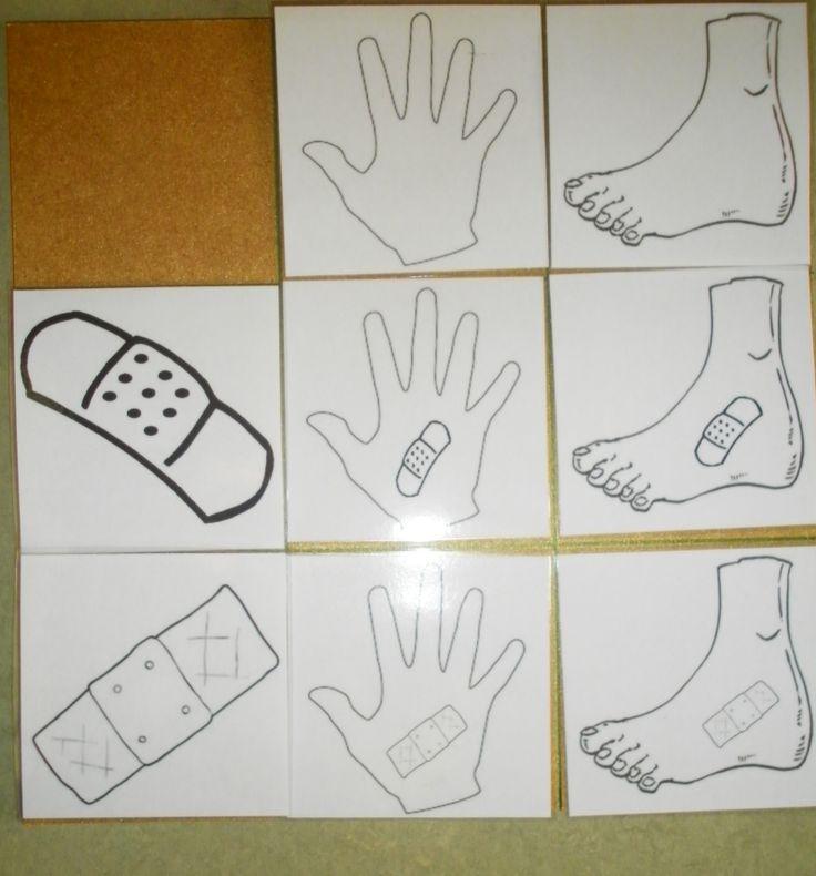 Matrix niveau 1: hand of voet + soort pleister