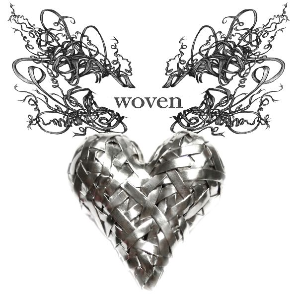 woven heart series of art jewellery - celebrating Love and our interconnectedness by Irish-Brazilian artist Gurgel-Segrillo