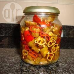 Foto recept: Pikante pepers inmaken in olie
