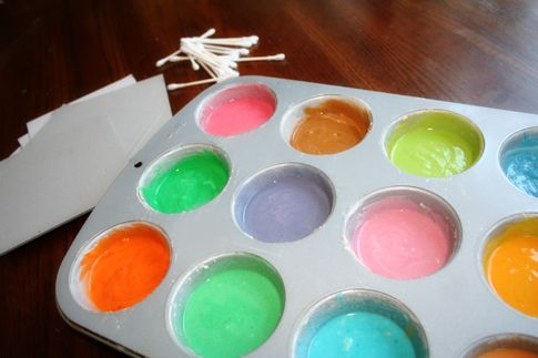 Homemade puffy paint. - Popsicle Blog
