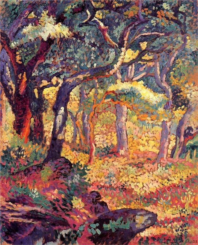 The Farm, Morning - Henri-Edmond Cross - 1906
