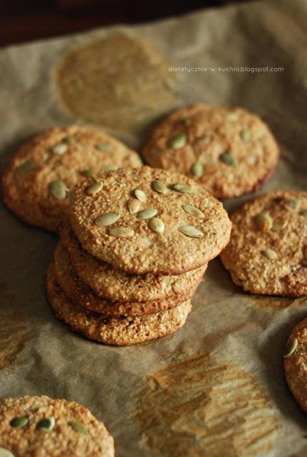Moje Dietetyczne Fanaberie: Bezglutenowe ciasteczka otrębowe z orzechami
