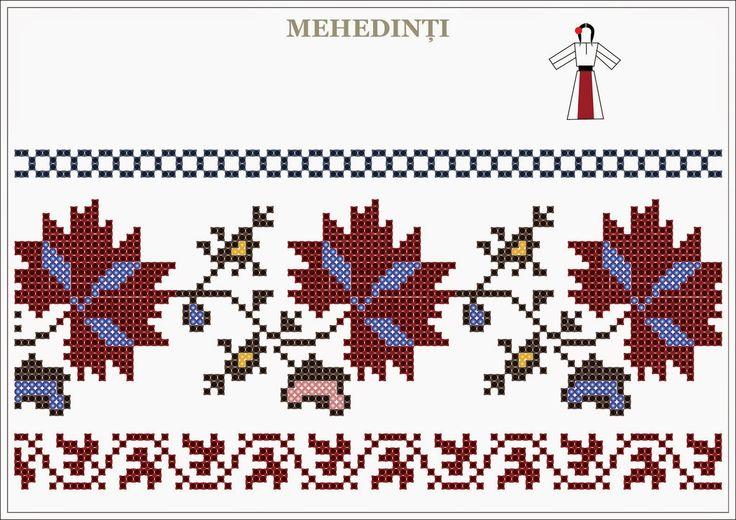 Semne Cusute: traditional Romanian motifs - OLTENIA, Mehedinti