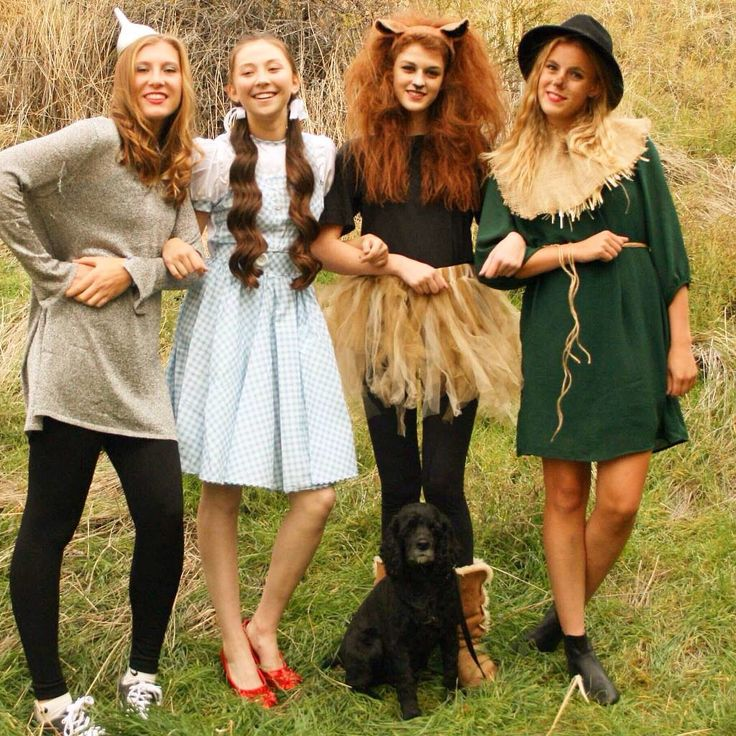 cute costume idea for teen girls - 4 Girls Halloween Costumes