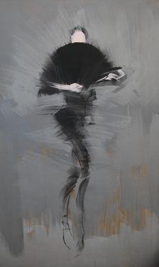 "Saatchi Online Artist Yuri Pysar; Painting, ""Large Abstract Ballerina Painting ""Carmen"" from ""Ballet"" Series by Yuri Pysar"" #art"