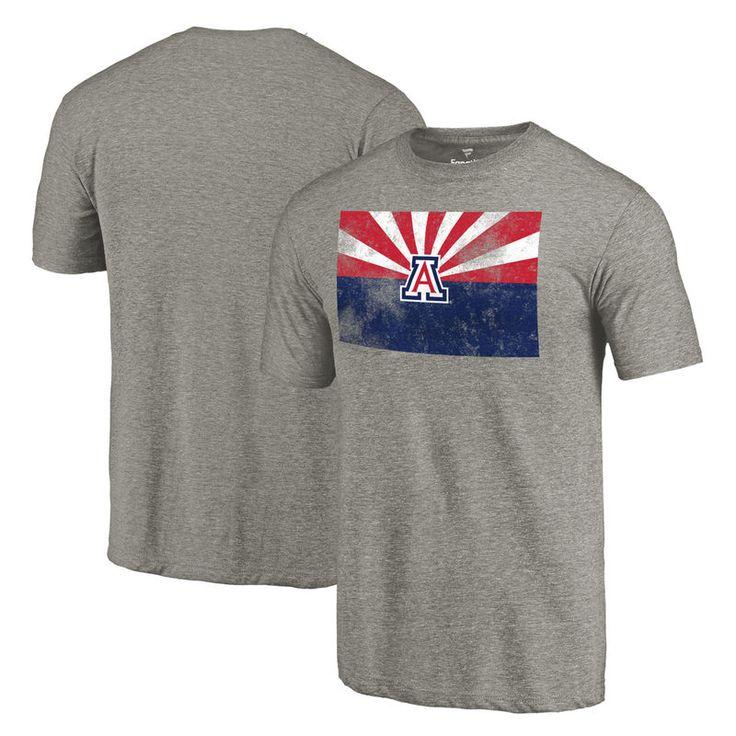 Arizona Wildcats State Flag Tri-Blend T-Shirt - Heathered Gray
