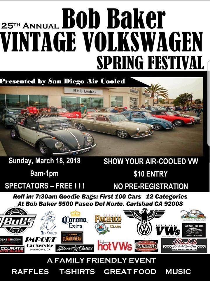 25th Annual Bob Baker Vintage Vw Spring Festival Events Bob