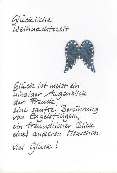 Weihnachtskarte Glück von Kartenfreude auf DaWanda.com: