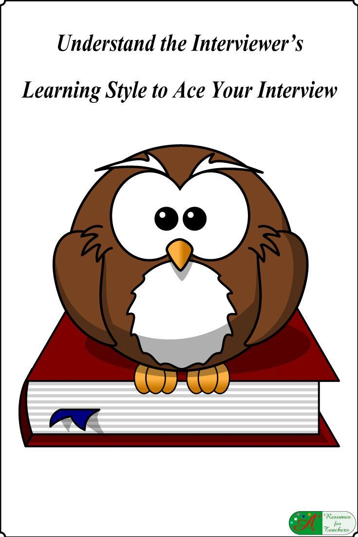 Understand the Interviewer's Learning Style to Ace Your Interview via @https://www.pinterest.com/candacedavies1/