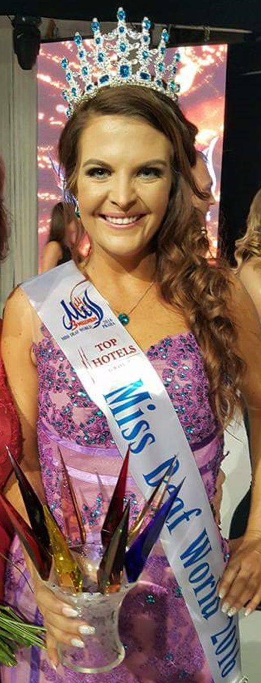 Forever Resorts would like to congratulate the beautiful Miss Deaf South Africa 2015/16 - Janie Erasmus for taking the Miss Deaf World crown and title at a glamorous event in Czech Republic last night!!! You have made us as your sponsor so very proud!!!! We wish you luck in your future ventures!!!